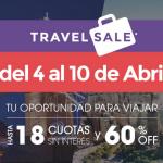 Travel Sale: Del 4 al 10 de Abril